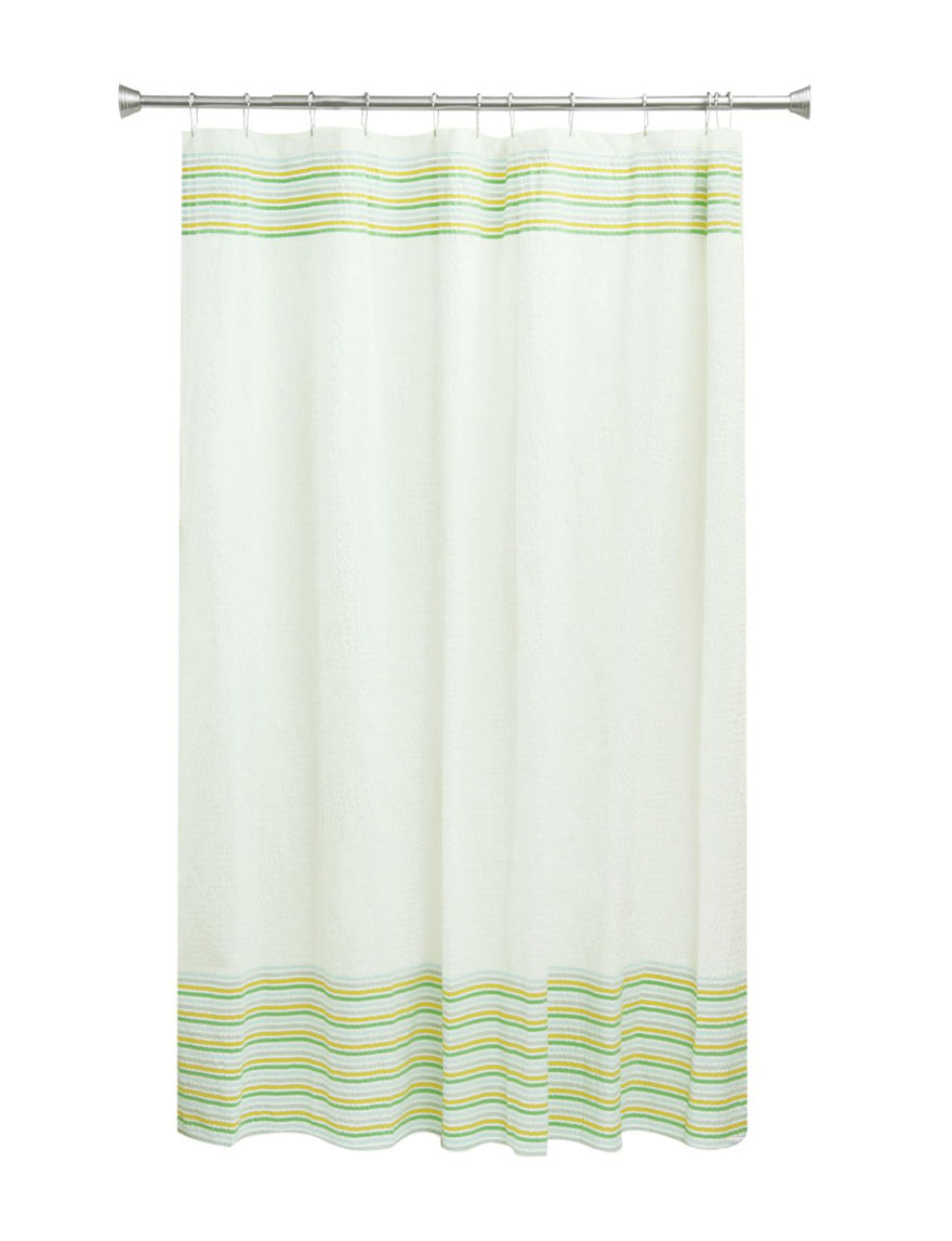Bacova Guild White Shower Curtains & Hooks