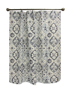 Bacova Guild Blue Shower Curtains & Hooks