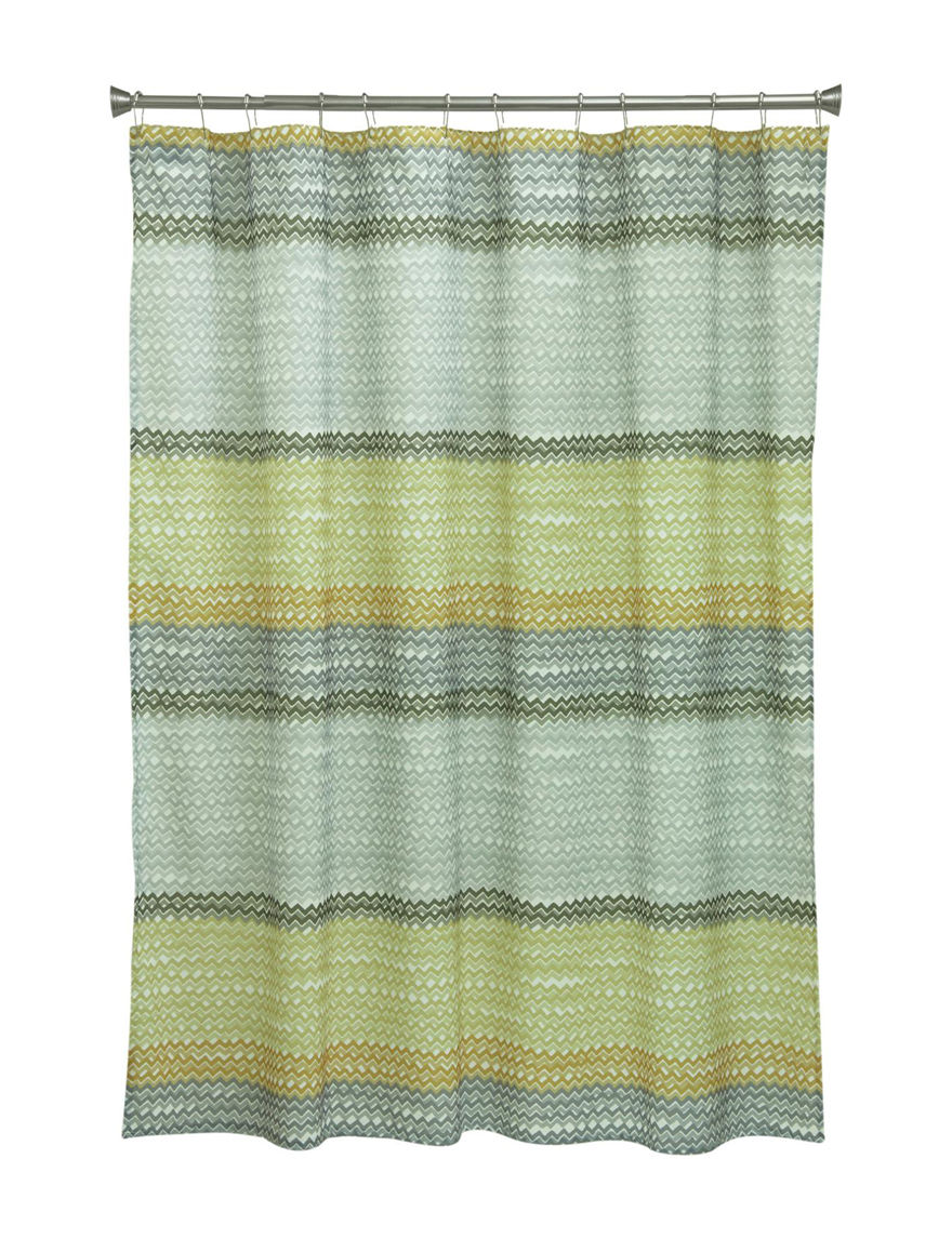 Bacova Guild Yellow Shower Curtains & Hooks