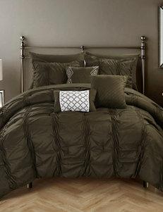 Chic Home Design 10-pc. Voni Pinch Pleated Bib Comforter Set