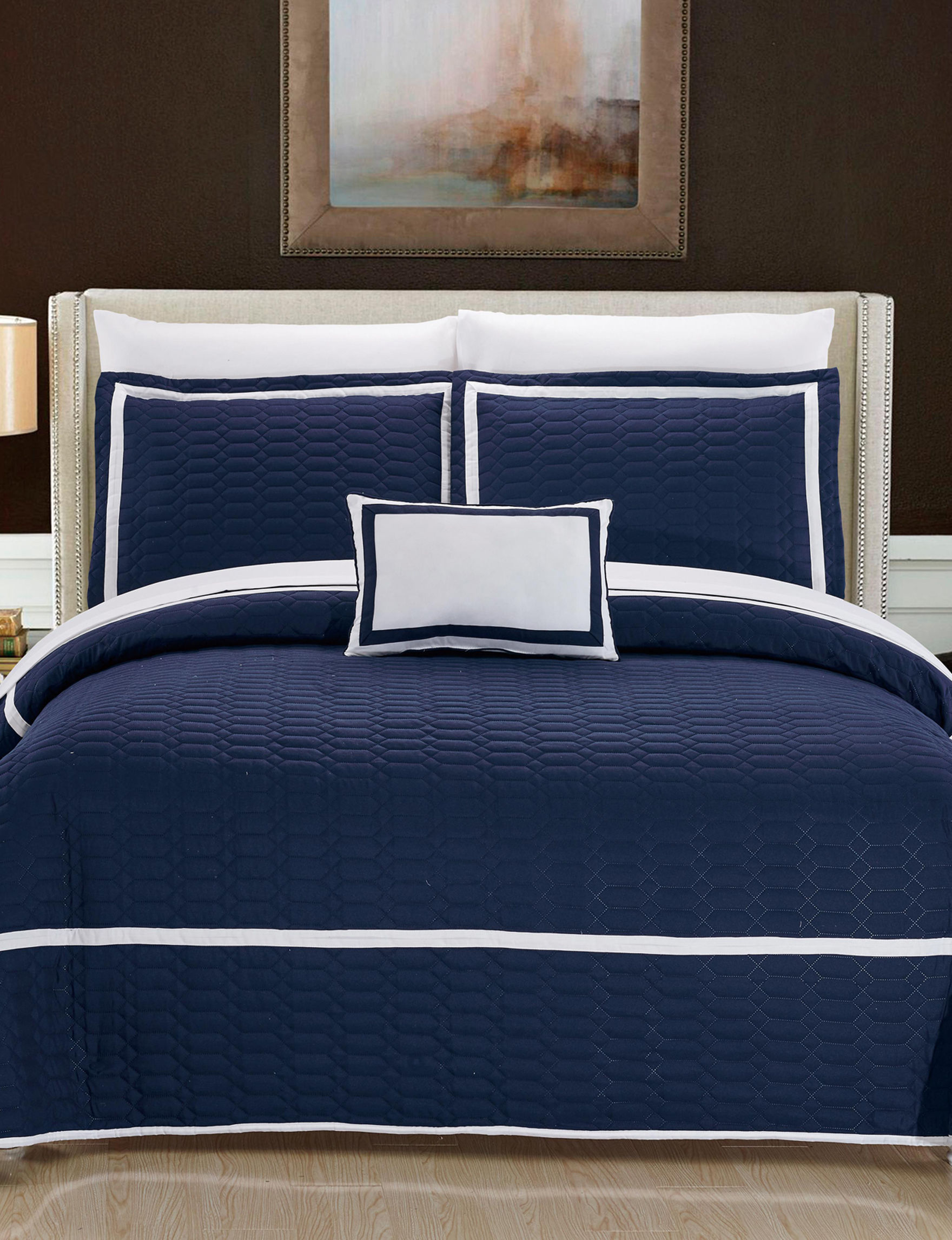 Chic Home Design Navy Quilts & Quilt Sets