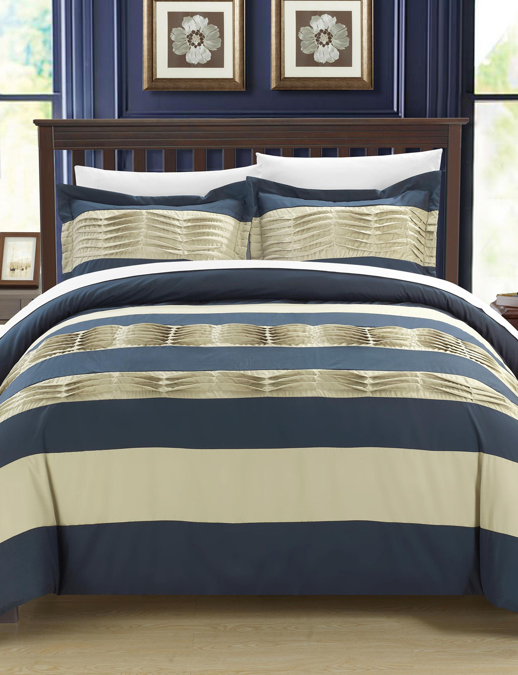 Chic Home Design Navy Duvets & Duvet Sets