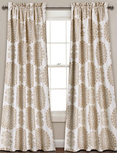 Half Moon Taupe Window Treatments