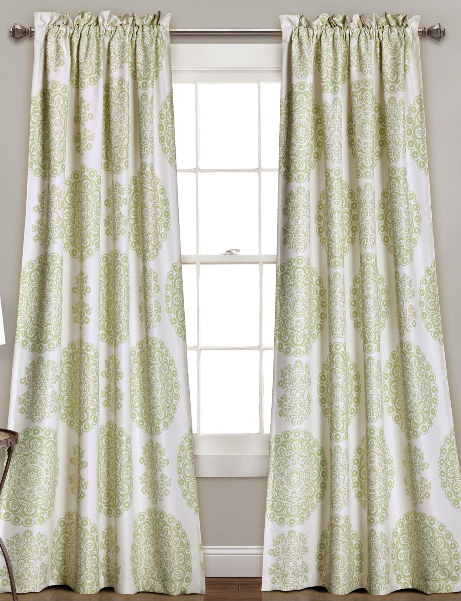 Half Moon Green Window Treatments