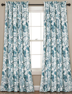 Half Moon Blue Shower Curtains & Hooks