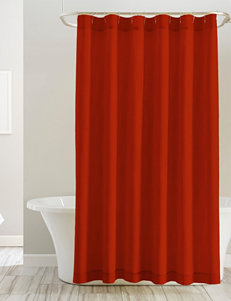 Pointehaven Orange Shower Curtains & Hooks