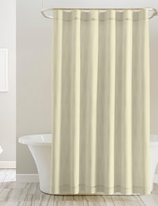 Pointehaven Tan Shower Curtains & Hooks