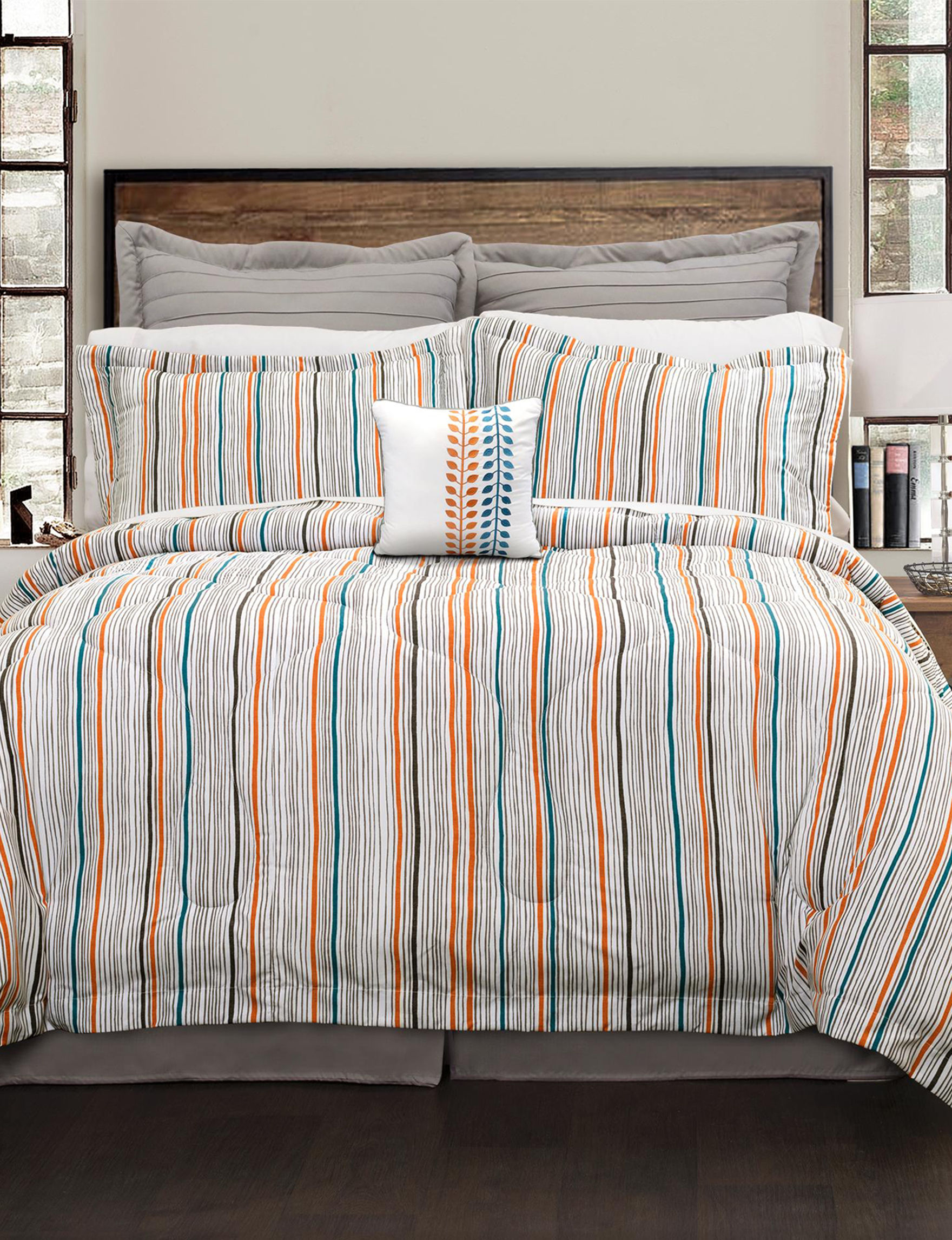 Lush Decor Orange/Blue Comforters & Comforter Sets
