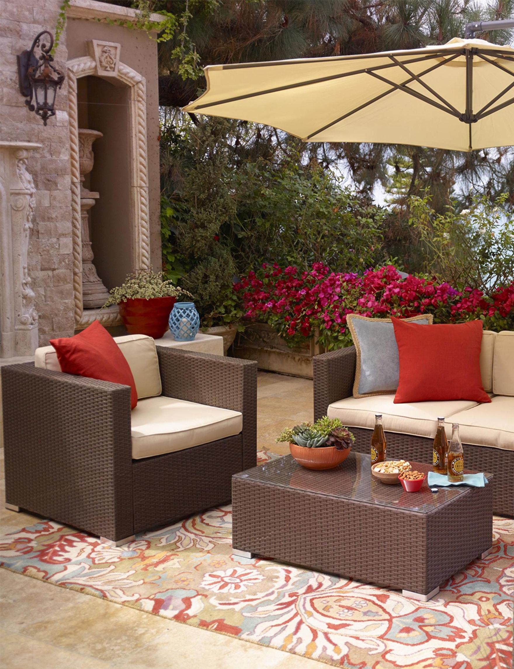 Thy hom 5 pc cane garden outdoor wicker conversation set for Hom patio furniture