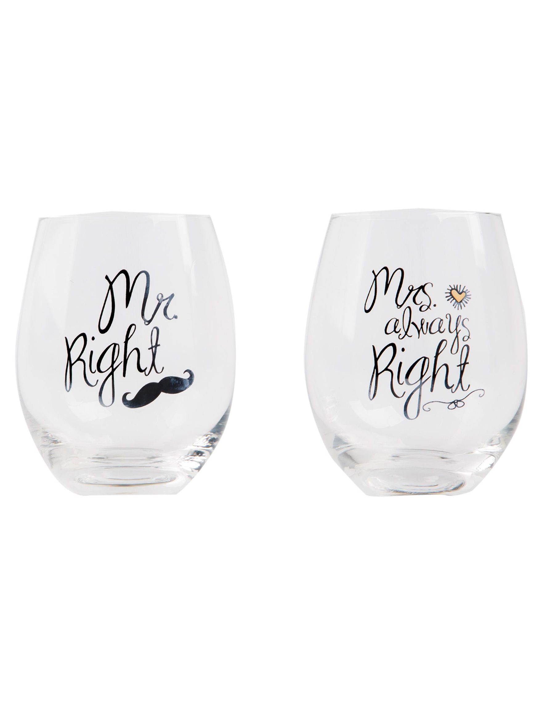 Home Essentials Clear Wine Glasses Drinkware