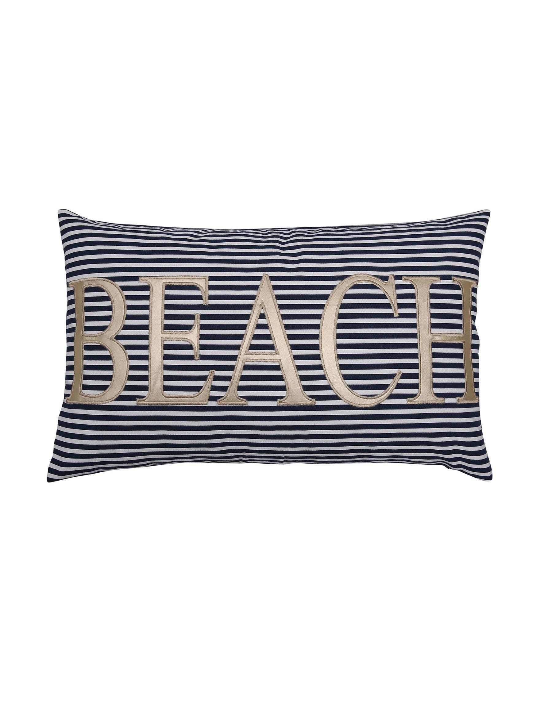 Lush Decor Navy Decorative Pillows
