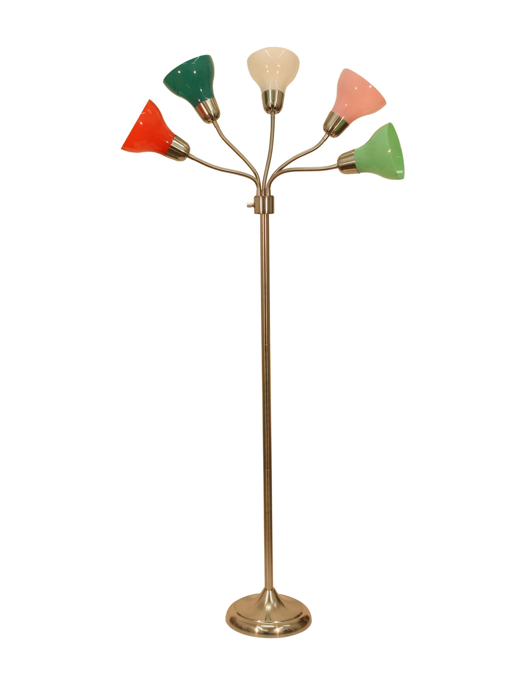 Decor Therapy Steel Floor Lamps Lighting & Lamps
