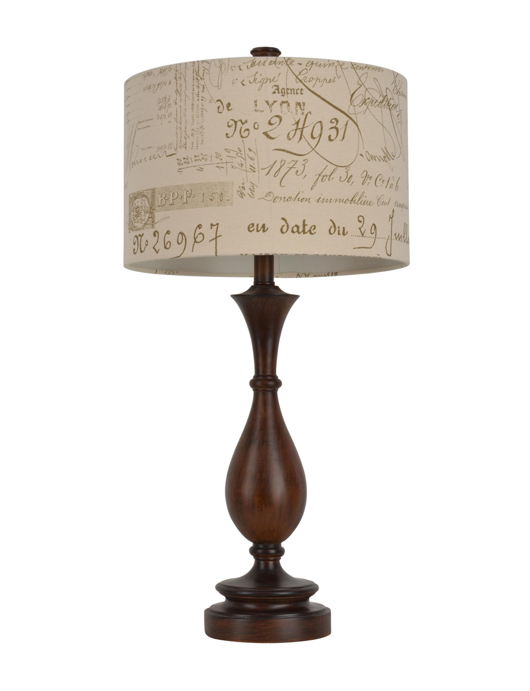 Decor Therapy Brown Table Lamps Lighting & Lamps