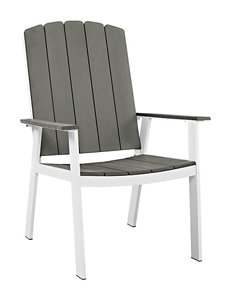 Walker Edison White / Grey Dining Chairs Patio & Outdoor Furniture
