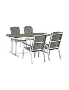 Walker Edison White / Grey Patio & Outdoor Furniture