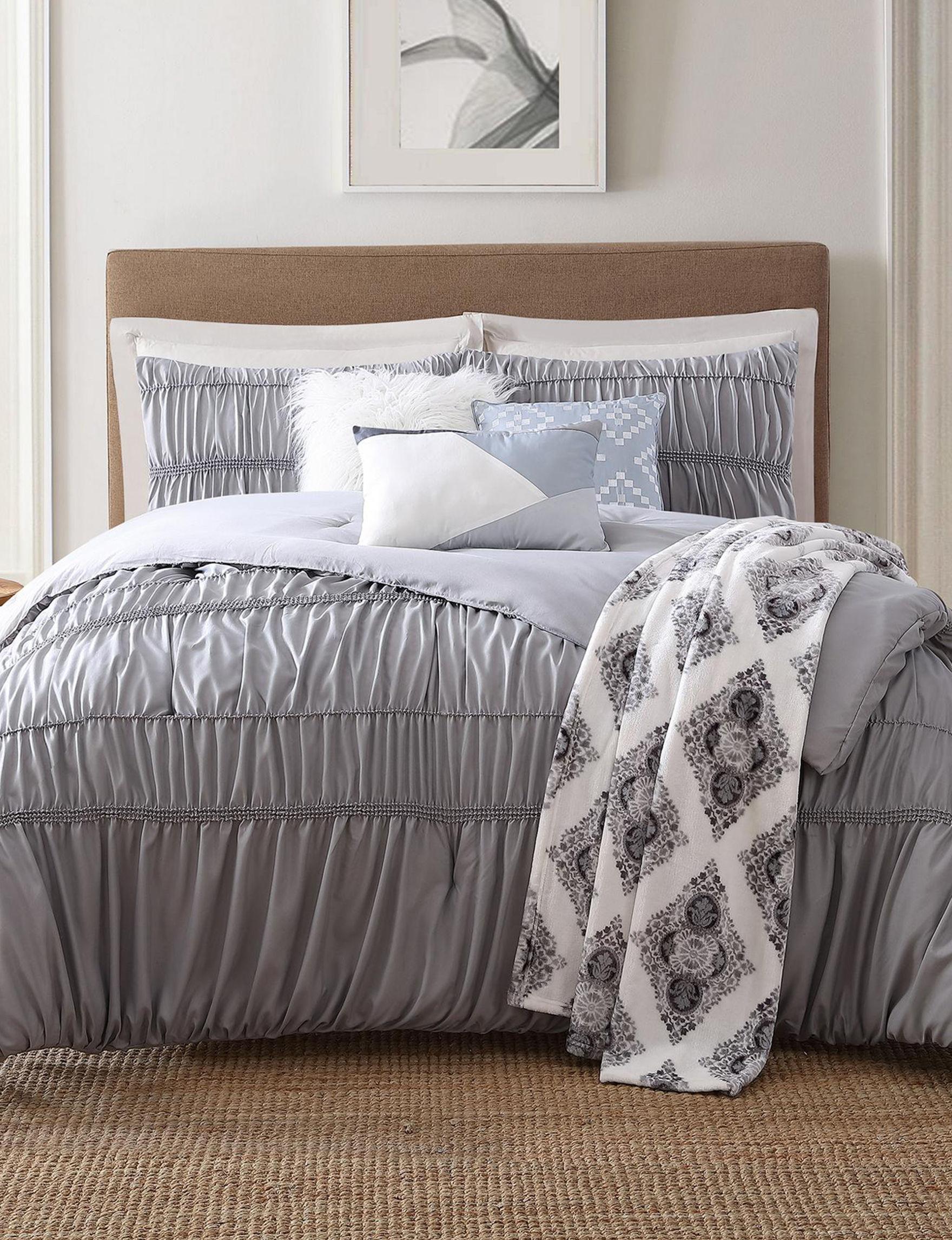 Jennifer Adams Grey Comforters & Comforter Sets