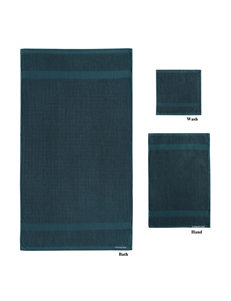 London Fog Blue Towels