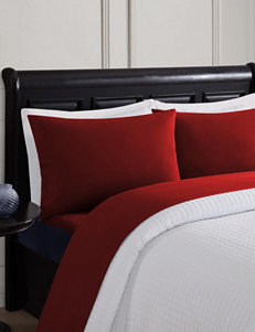 London Fog Red Sheets & Pillowcases