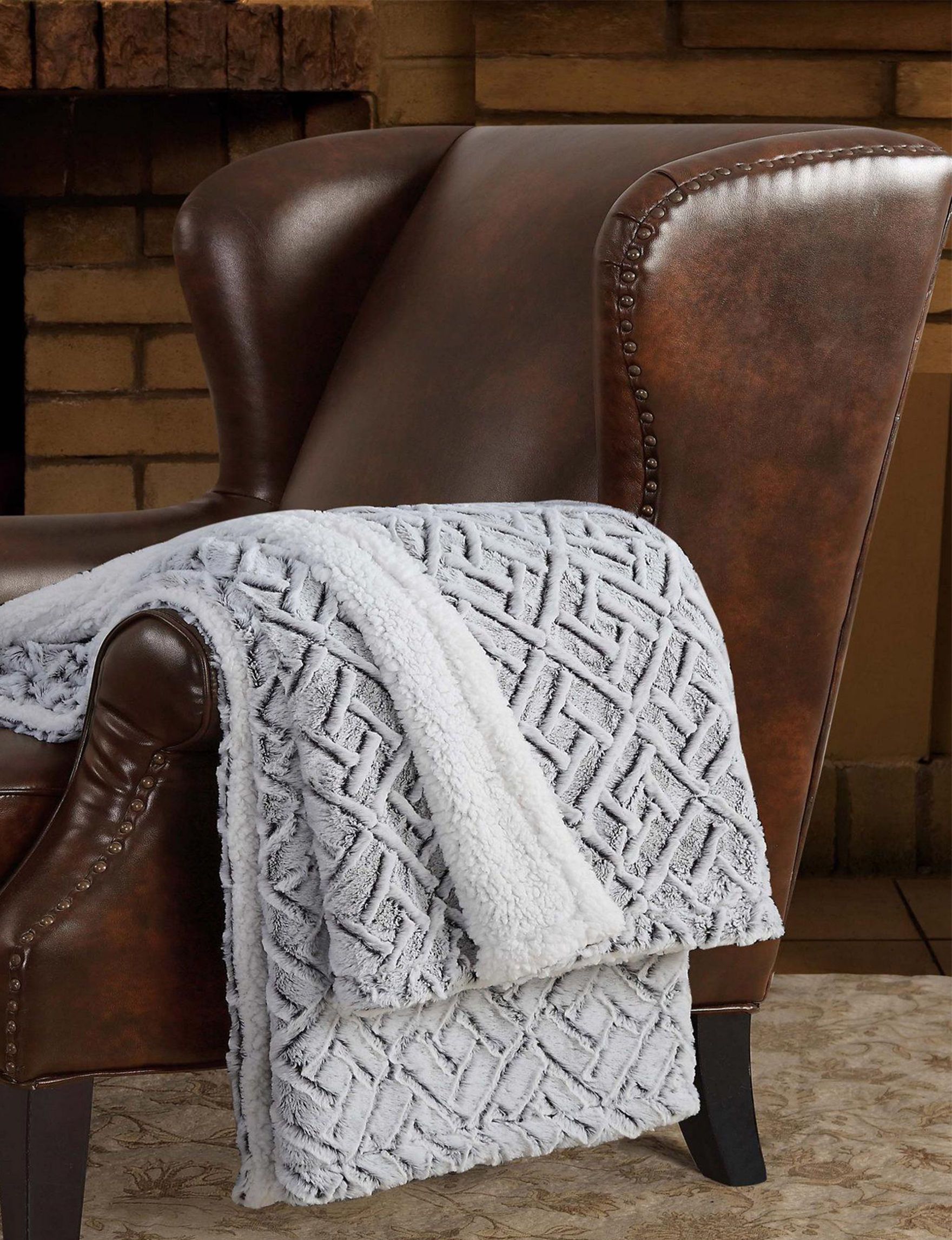 London Fog Taupe Blankets & Throws