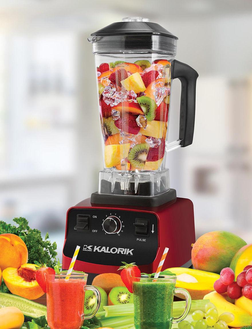 Kalorik Red Blenders & Juicers Kitchen Appliances Prep & Tools