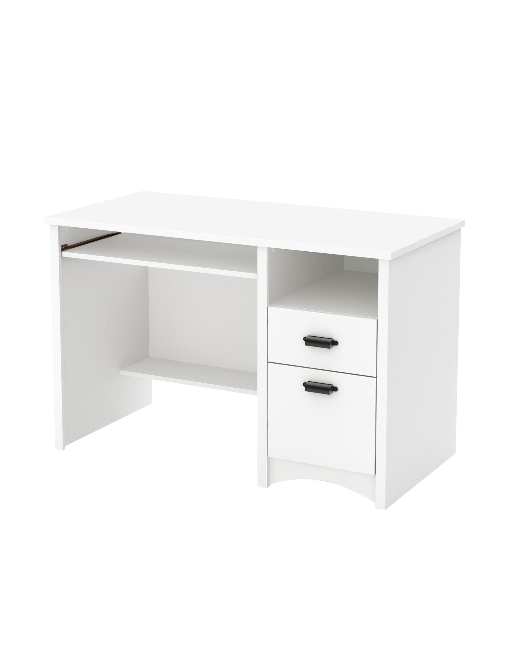South Shore Pure White Desks Bedroom Furniture Home Office Furniture Living Room Furniture