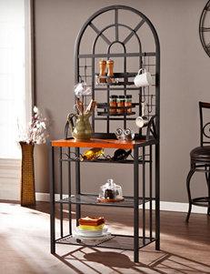 Southern Enterprises Black Bar & Wine Storage Kitchen Islands & Carts Storage Shelves Wine Racks Home Accents Kitchen & Dining Furniture Living Room Furniture