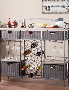 Southern Enterprises Grey Bar & Wine Storage Kitchen Islands & Carts Storage Shelves Wine Racks Home Accents Kitchen & Dining Furniture Living Room Furniture