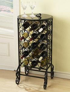 Southern Enterprises Black Accent & End Tables Bar & Wine Storage Wine Racks Home Accents Kitchen & Dining Furniture Living Room Furniture