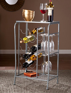 Southern Enterprises Grey Bar & Wine Storage Kitchen Islands & Carts Wine Racks Home Accents Kitchen & Dining Furniture Living Room Furniture