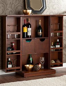 Southern Enterprises Dark Brown Bar & Wine Storage Wine Racks Home Accents Kitchen & Dining Furniture Living Room Furniture