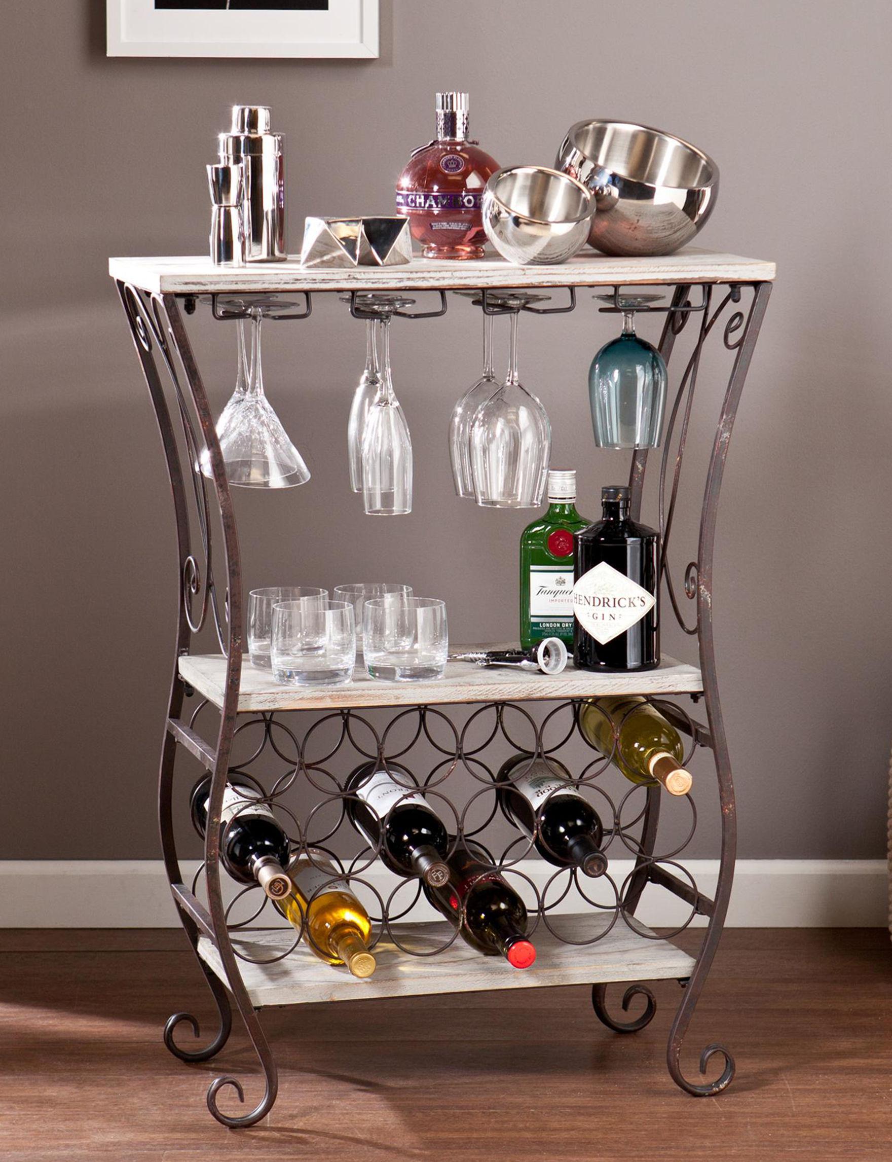 Southern Enterprises Grey Bar & Wine Storage Kitchen Islands & Carts Wine Racks Home Accents Living Room Furniture