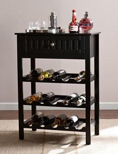 Southern Enterprises Black Bar & Wine Storage Kitchen Islands & Carts Wine Racks Home Accents Kitchen & Dining Furniture Living Room Furniture