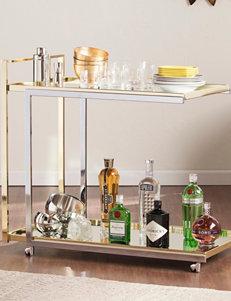 Southern Enterprises Grey Bar & Wine Storage Kitchen Islands & Carts Home Accents Kitchen & Dining Furniture Living Room Furniture