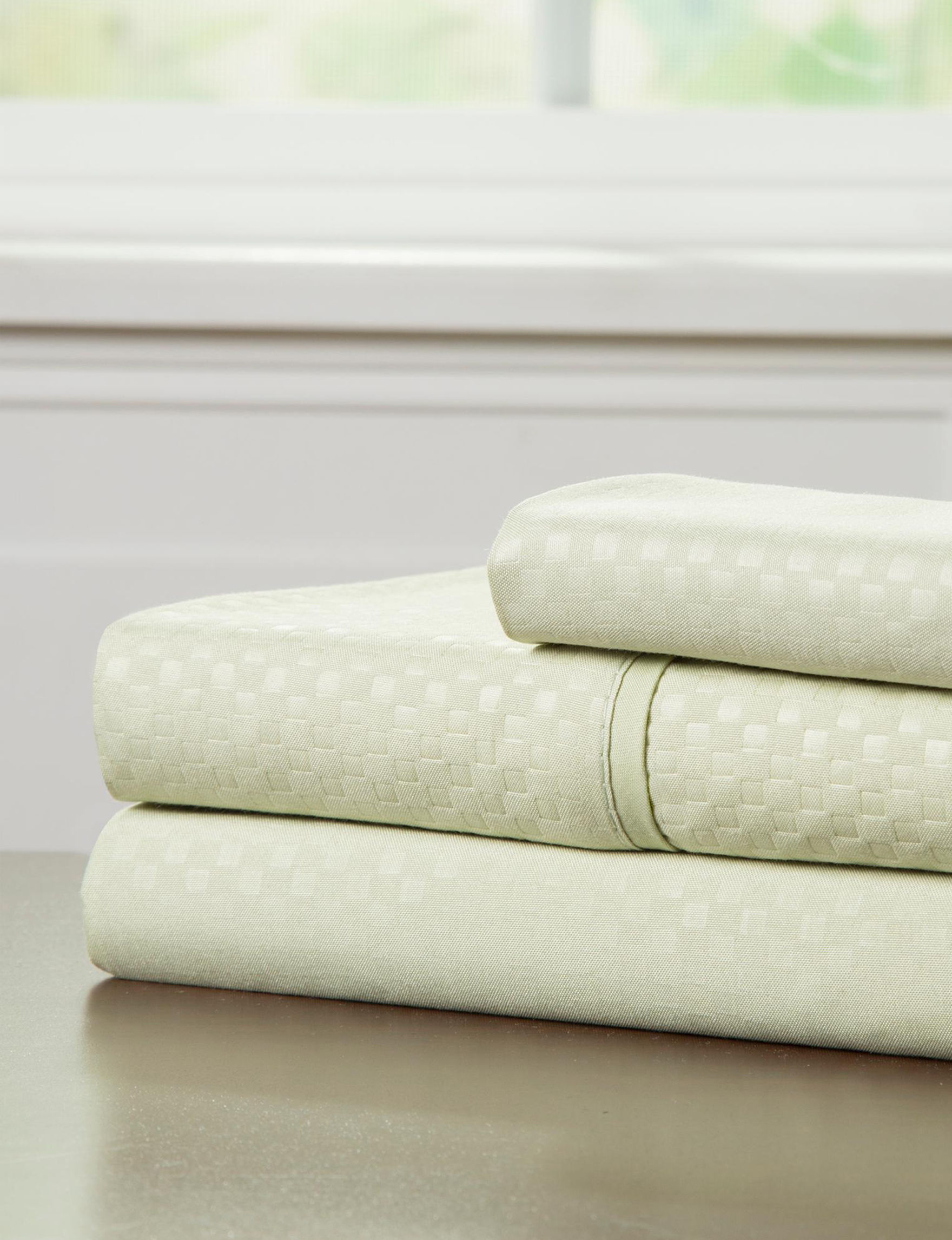 Lavish Home Sage Sheets & Pillowcases