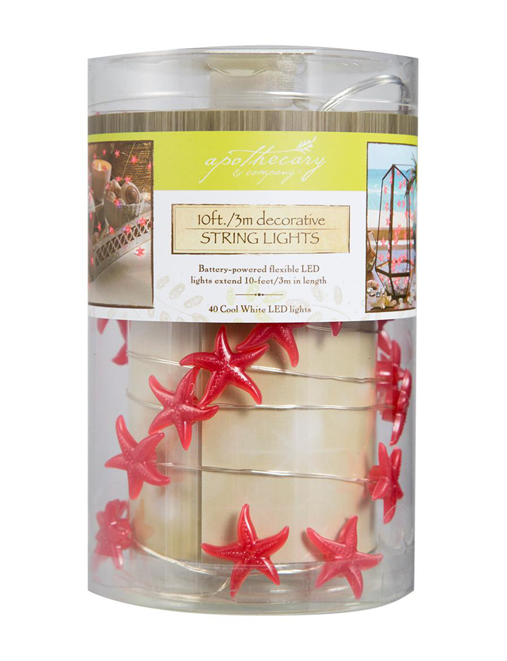 Apothecary Clear Candles & Candle Holders Home Accents