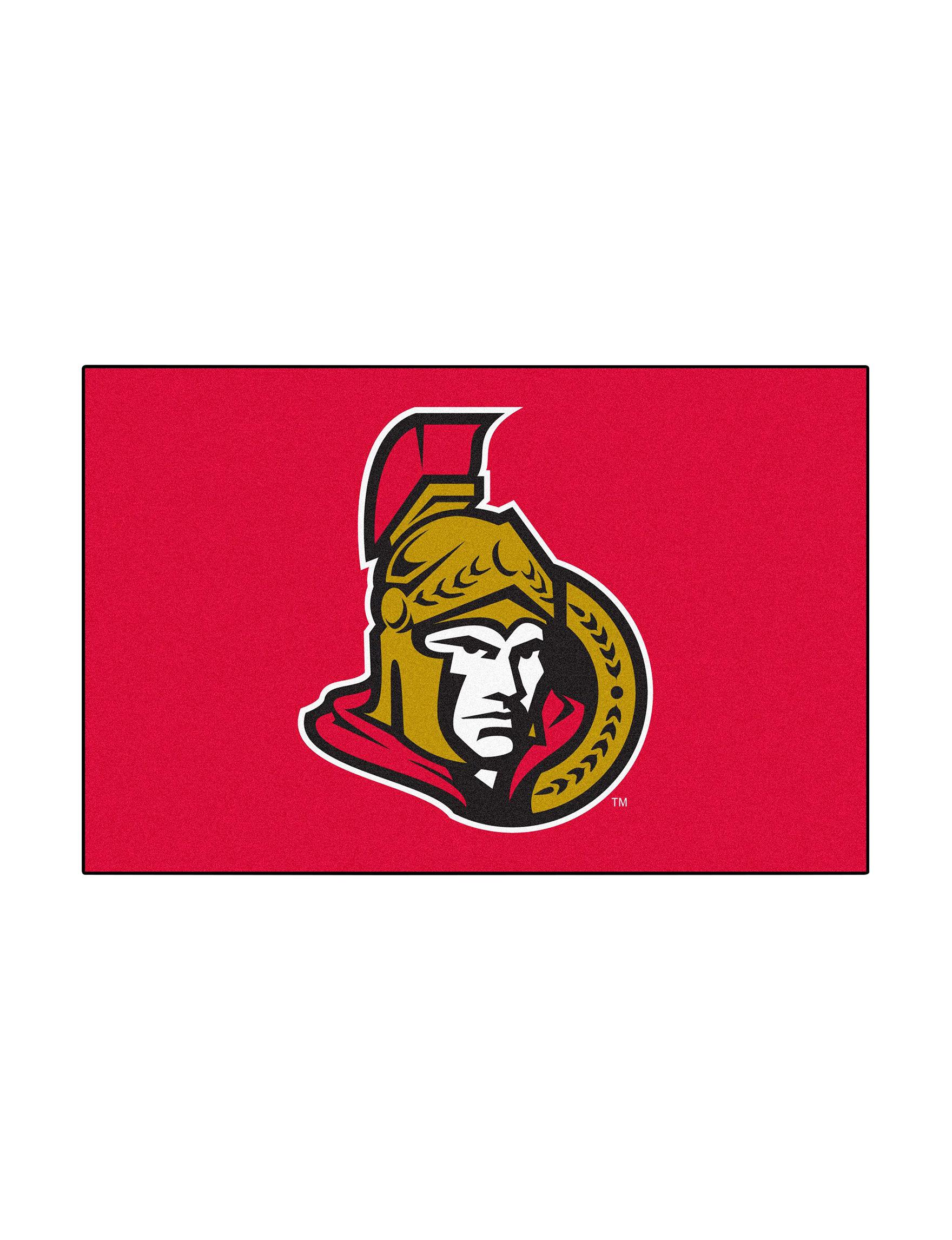 Fanmats Black NHL Rugs