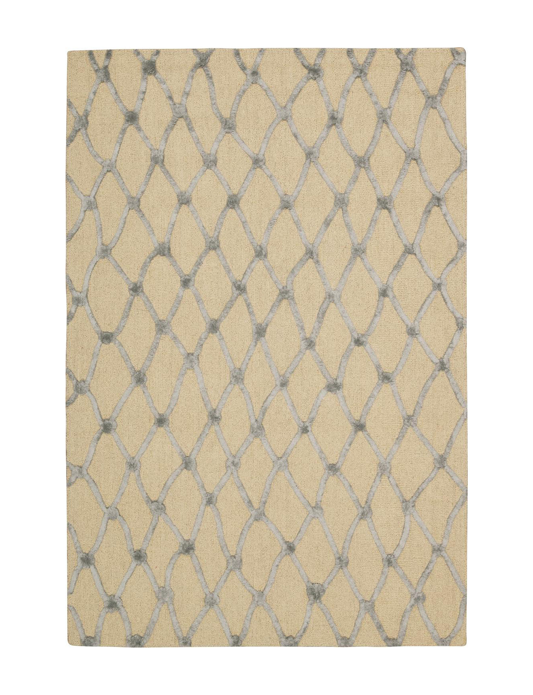 Nourison Ivory/Blue Rugs