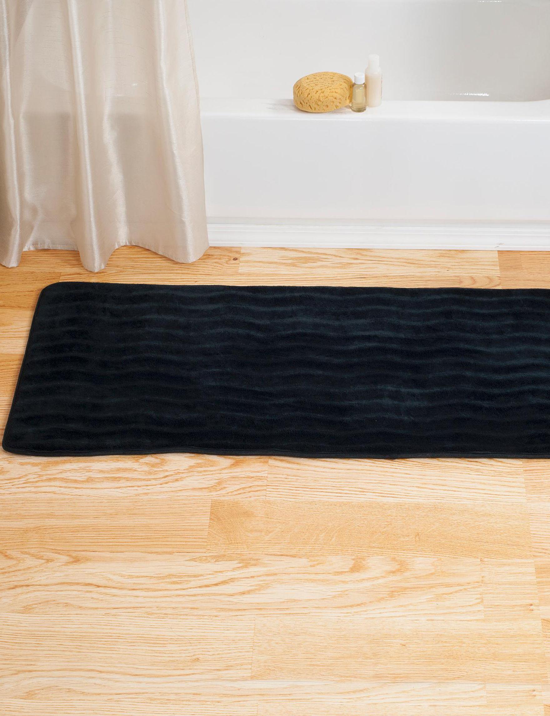Lavish Home Black Area Rugs Bath Rugs & Mats