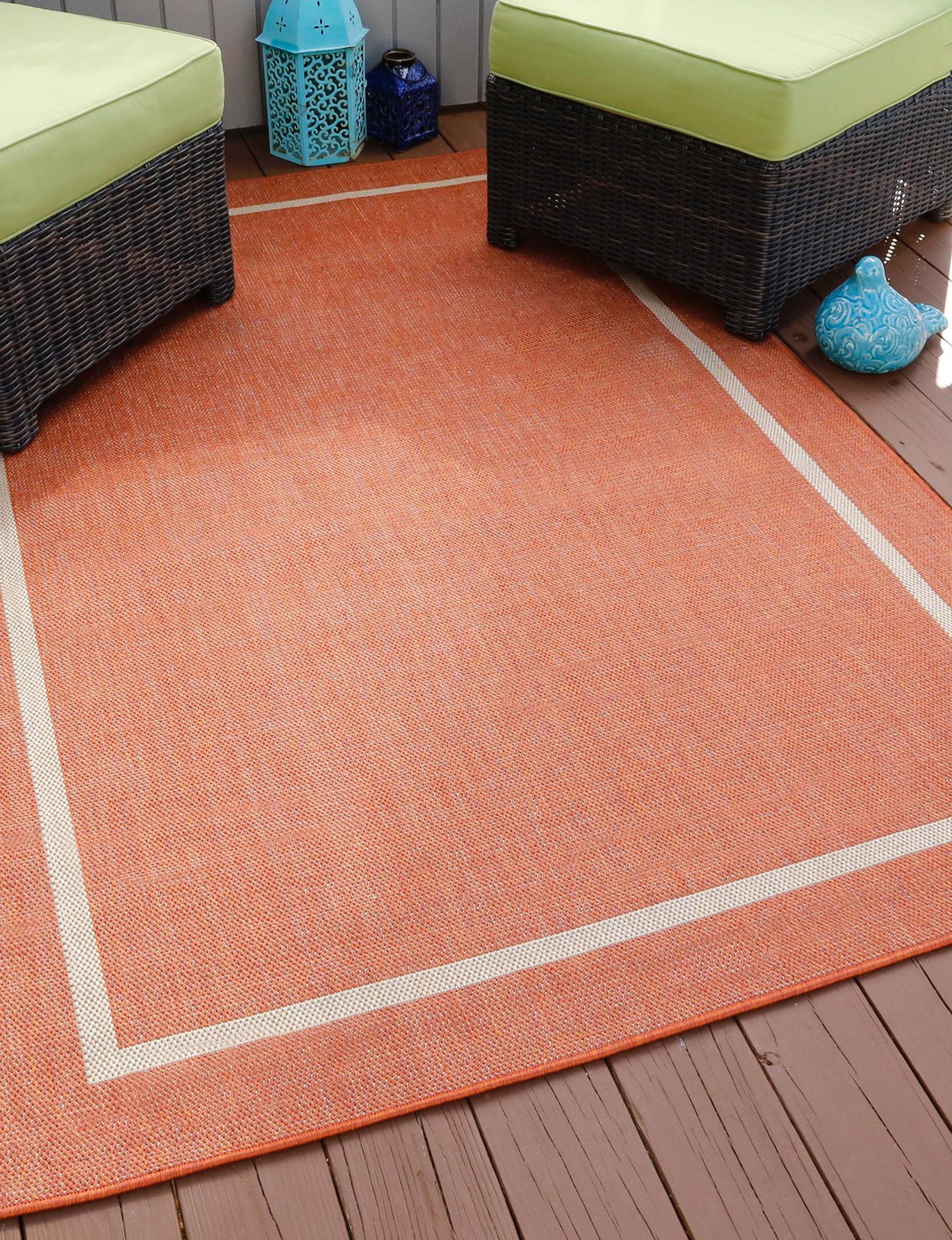 Lavish Home Orange Area Rugs Rugs