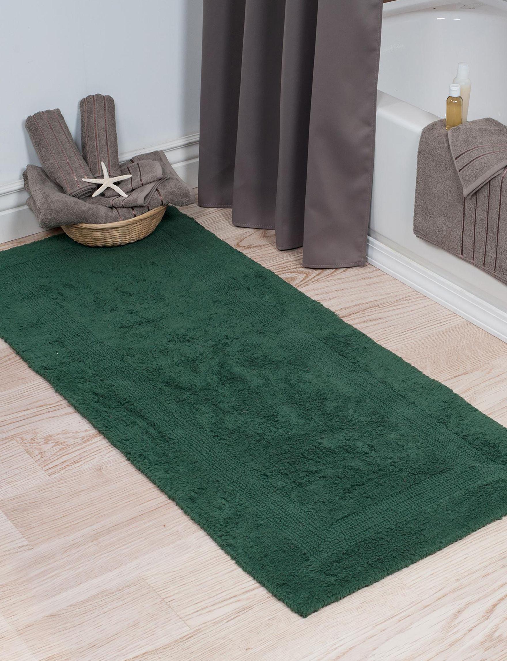Lavish Home Green Bath Rugs & Mats