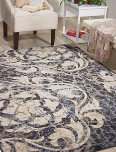 Nourison Ivory/Blue Area Rugs Rugs
