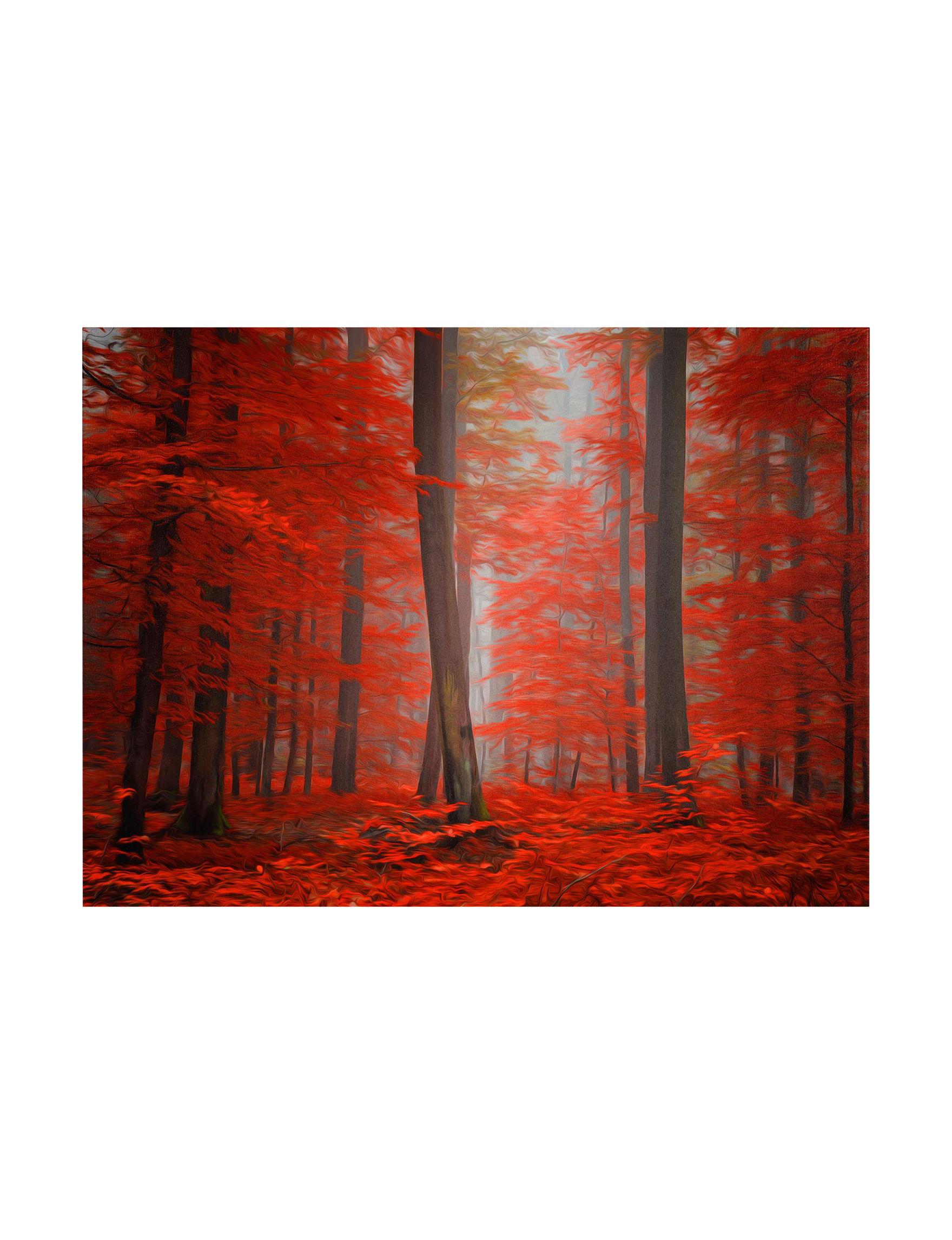 Trademark Fine Art Red Wall Art Wall Decor