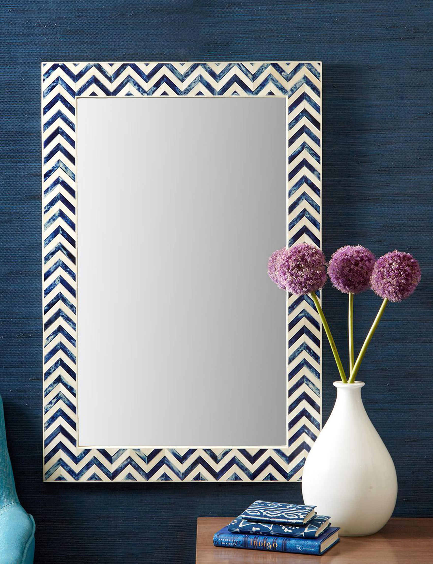 Two's Company Blue Mirrors Wall Decor