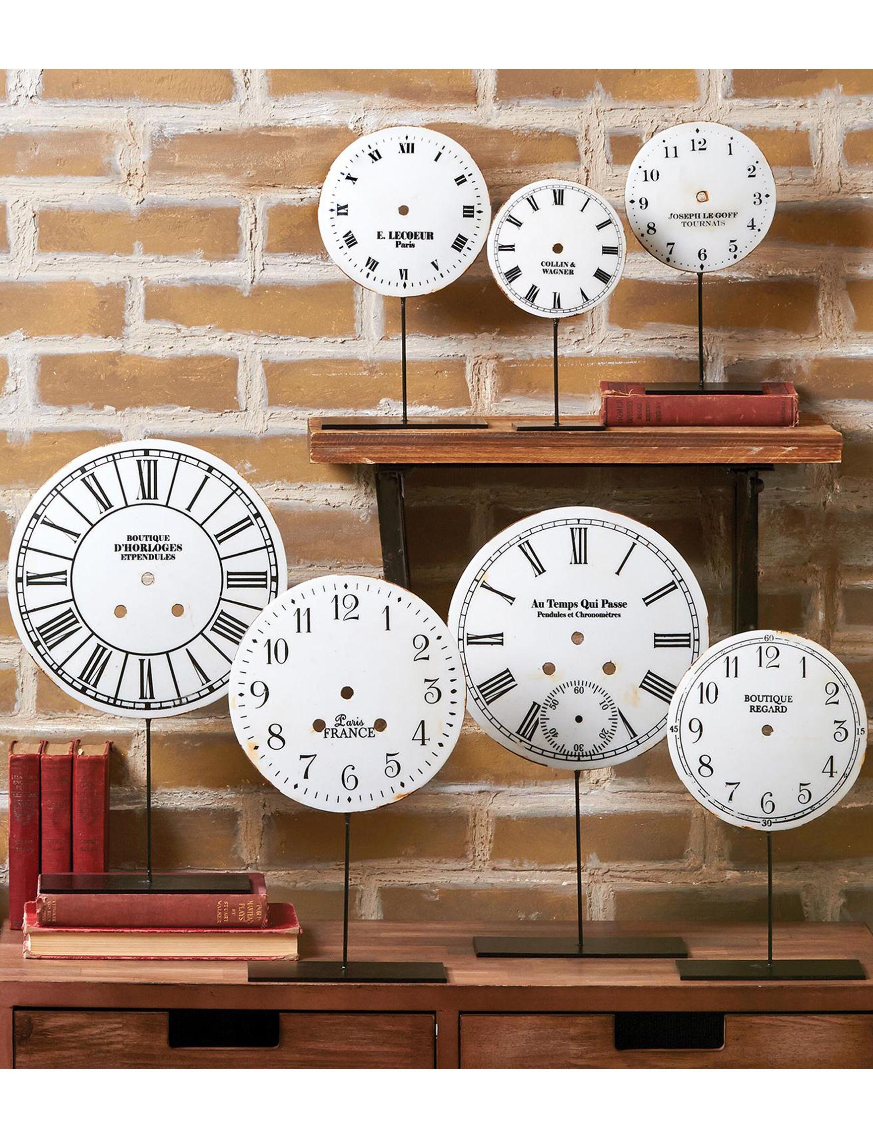 Two's Company White Desk Clocks Home Accents