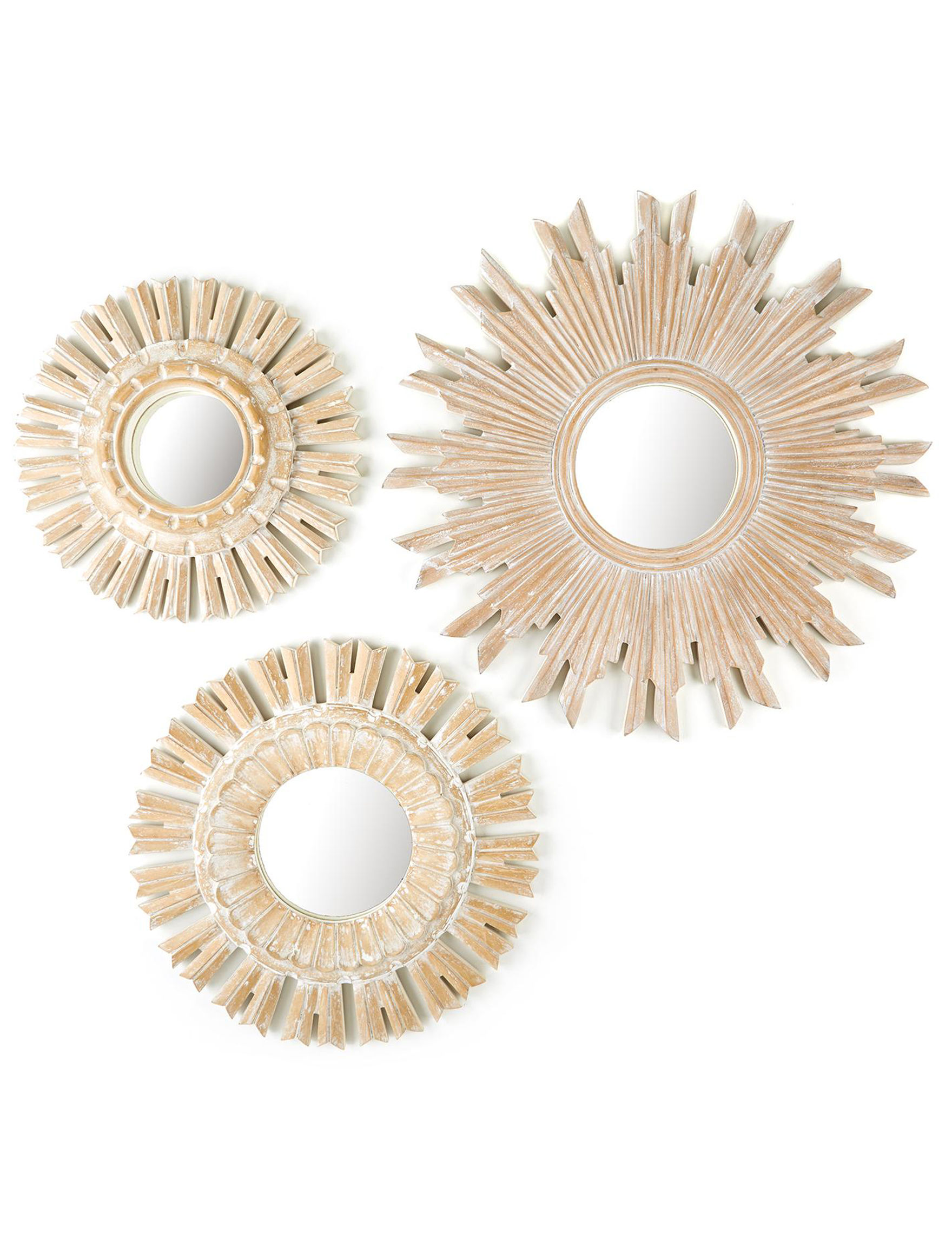 Two's Company White Mirrors Wall Decor