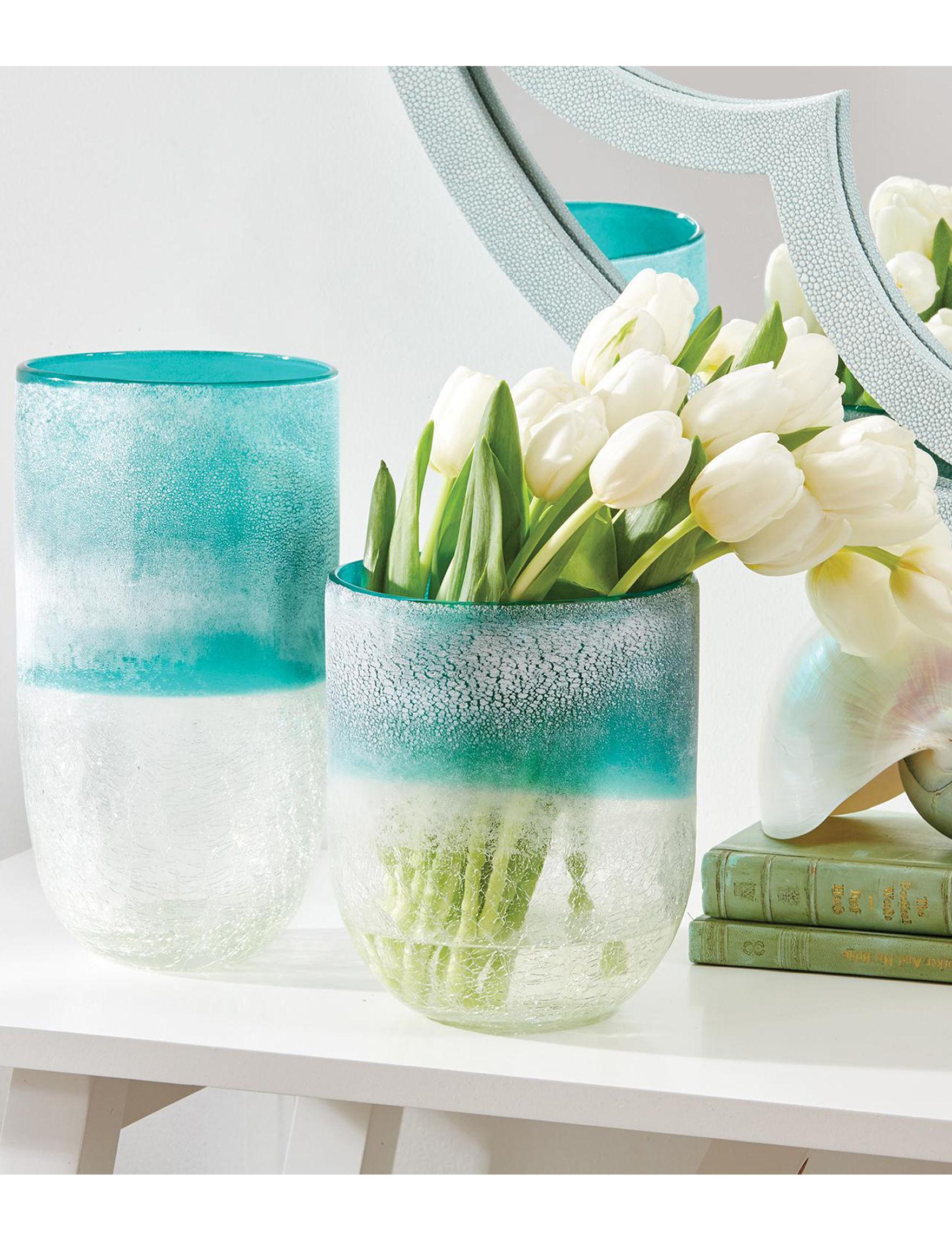 Two's Company Aqua Vases & Decorative Bowls Home Accents