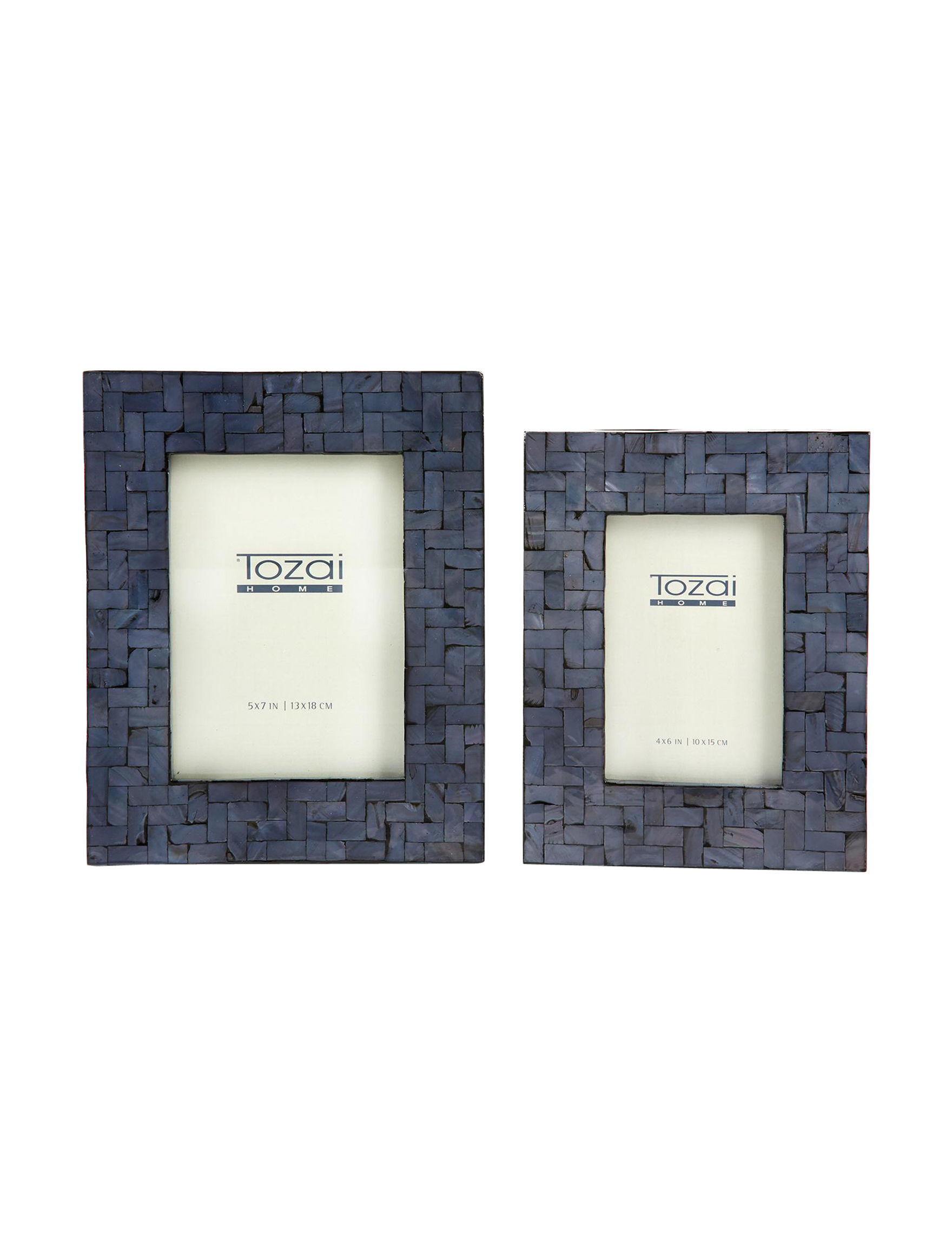 Two's Company Blue Frames & Shadow Boxes Home Accents