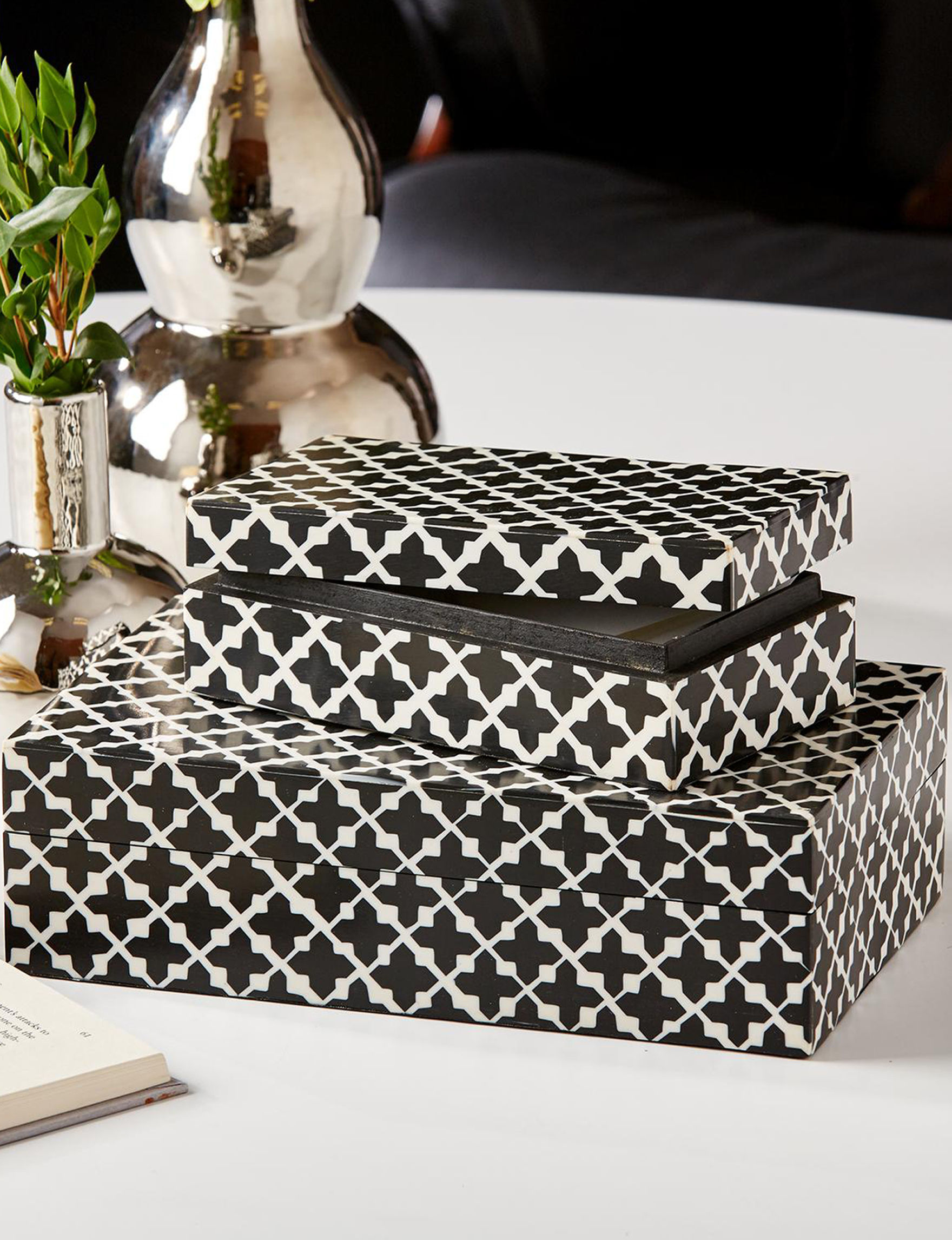 Two's Company Black / White Storage Bags & Boxes Storage & Organization
