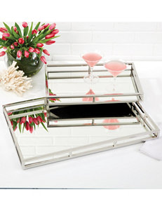 Two's Company Silver Decorative Trays Home Accents