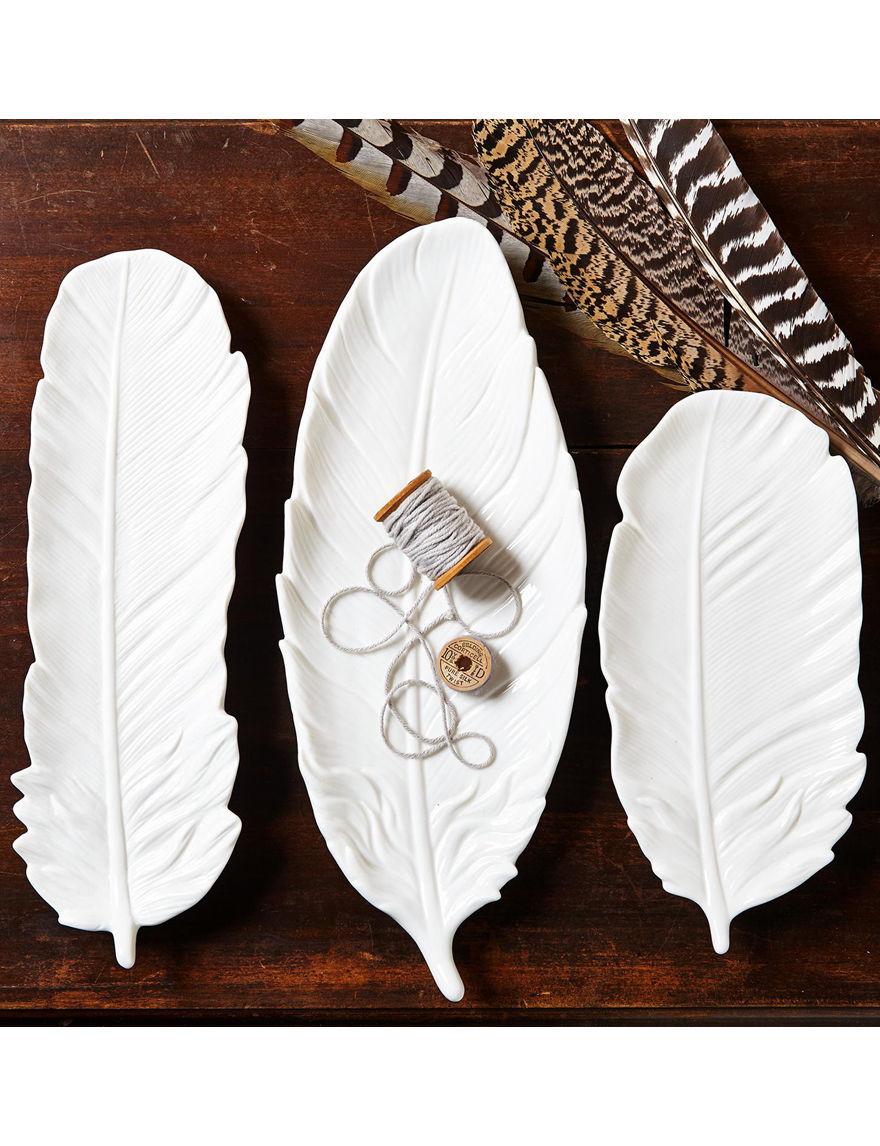 Two's Company White Decorative Objects Decorative Trays
